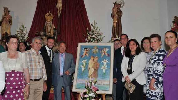 José Garcés, autor del cartel de las Fiestas de San Antonio de Padua de Punta del Moral