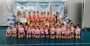 Componentes del GR Onuba Ayamonte en el torneo celebrado en la Puerta de España.