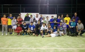 Participantes en la segunda prueba del Provincial de Huelva de Menores y Veteranos de Pádel.