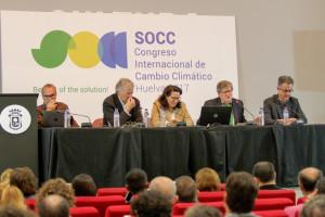 Desarrollo de la ponencia sobre áreas protegidas y cambio climático.