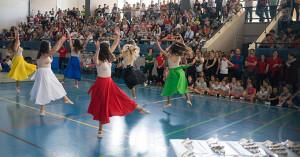 Representantes de Club Danzarte Ayamonte en el acto.