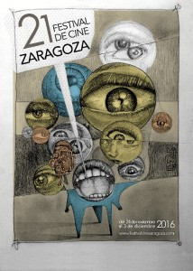 Cartel del Festival de Cine de Zaragoza, realizado por Erick.