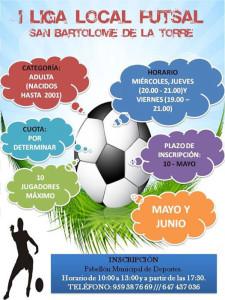 Cartel del torneo de fútbol sala que se celebrará en San Bartolomé de la Torre.