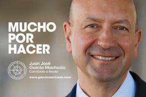 El lema de su campaña es 'Mucho por hacer'.
