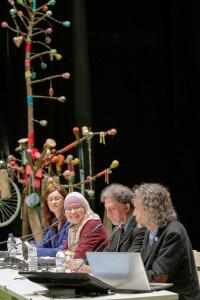"""La fundadora de Green Creation, Arianne teen Veen, durante la ponencia """"El papel de la educación y de las religiones"""" durante el SOCC 2017."""
