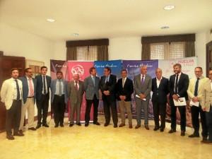 Un momento del encuentro entre el presidente del Patronato y el de los hoteleros españoles analizan los retos del Destino Huelva.
