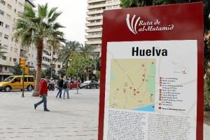 Huelva forma parte de la Ruta al-Mutamid, que conecta con la Ruta de Washington Irving hasta Granada.