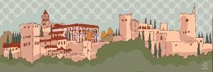 Panorámica de La Alhambra realizada por este artista.