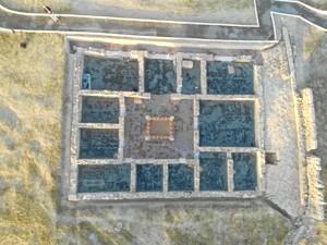 Vista aérea de la Casa Norte de Arucci. / Foto: Ayuntamiento de Aroche.