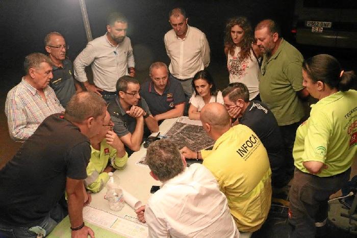 La provincia despliega su solidaridad ante el devastador incendio forestal iniciado en Moguer
