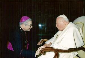 Con Juan Pablo II.