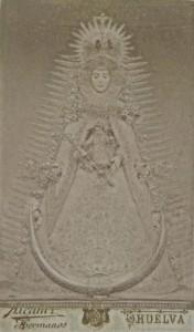 Fotografía de la Virgen del Rocío, de finales del siglo XIX.