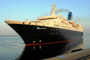 Imagen del buque de cruceros Saga Pearl II.