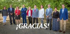 El equipo de Francisco Ruiz muestra su agradecimiento.