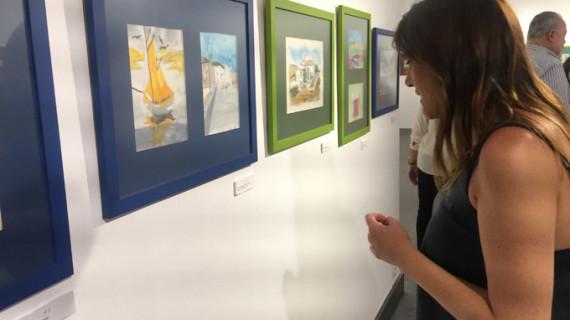Pacientes de Salud Mental exponen en la Fundación Cajasol obras realizadas en el Taller de Acuarelas