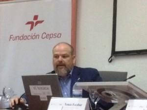Alberto Germán Franco, autor del libro, durante su intervención.