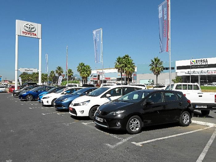 Una imagen de la III Feria del Vehículo de Ocasión Toyota Huelva.