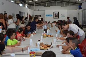 Aula del Comedor Social de Cartaya.
