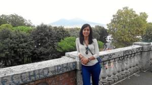 La joven historiadora Noemí Raposo ha podido estudiar in situ los espacios públicos de Pompeya.