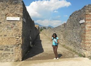 Para la realización de esta tesis, Noemí ha realizado varias estancias de investigación en Pompeya.
