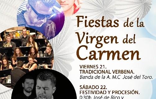 Trigueros celebra sus Fiestas Patronales de la Virgen del Carmen del 21 y el 23 de julio