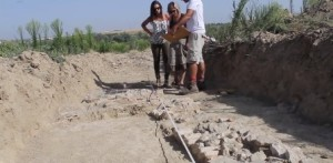 Hallado en Bollullos un yacimiento arqueológico medieval. mágenes aéreas cedidas gratuitamente por la empresa local, Aeronuba.