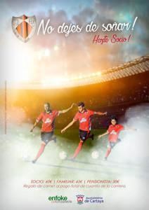Cartel de la Campaña de Abonados del club cartayero.