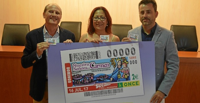 La ONCE dedica el cupón del 16 de julio a las Fiestas del Carmen de Punta Umbría