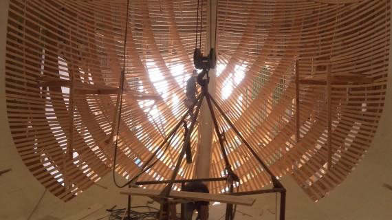 La construcción de la nueva Nao Santa María marcha a buen ritmo, dando comienzo los trabajos de carpintería