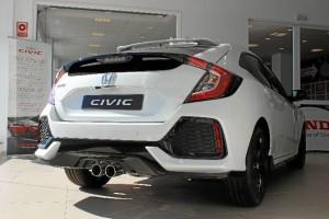 Perfil trasero del nuevo Honda Civic. / Foto: L.C.