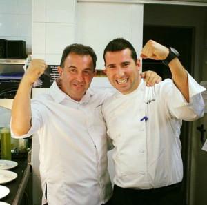 Álvaro con el chef Martín Berasategui.