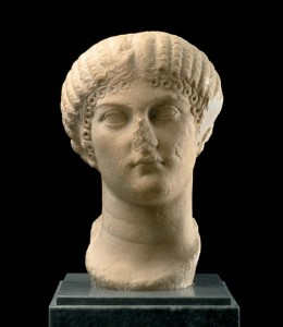 Retrato de Agripina, hallado en una finca situada a dos kilómetros del casco urbano de Villalba del Alcor. / Foto: villalbadelalcor.es