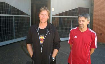 Pepe Delgado y Jorge Gálvez abandona el encierro en el Nuevo Colombino. / Foto: www.recre.org.
