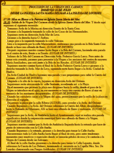 Itinerario de la procesión. / Foto: Hermandad del Carmen de Punta.