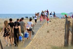 La playa cuenta también con una zona para personas con algún tipo de discapacidad.