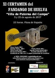 El viernes 25 de agosto se celebra la Final del Concurso de Fandango 'Villa de Paterna'.