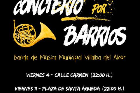Nuevo Concierto por Barrios y visita guiada, próximas citas en Villalba del Alcor