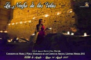 Cartel de la Noche de las Velas, en Aroche.