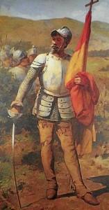 Cuadro venezolano de principios del siglo XX representando a Diego de Losada, fundador de Caracas, a quién se cree acompañó Francisco de Vides. /Foto: www.wikipedia.org.