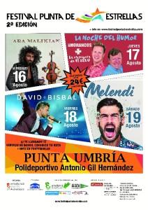 Cartel oficial II Edición Festival Punta de Estrellas.