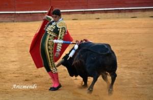 Miguel Angel Perera, en una de sus faenas de muleta. / Foto: J.L. Arizmendi