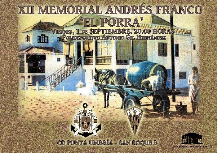 Cartel del evento que se celebrará el 1 de septiembre.