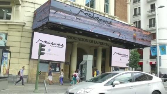 Matalascañas se promociona en la Plaza del Callao de Madrid