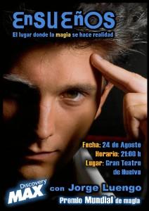 Cartel de 'Ensueños', espectáculo de magia de Jorge Luengo.