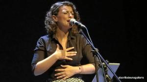Mara, en el concierto de presentación del disco en Barcelona, donde levantó al público.