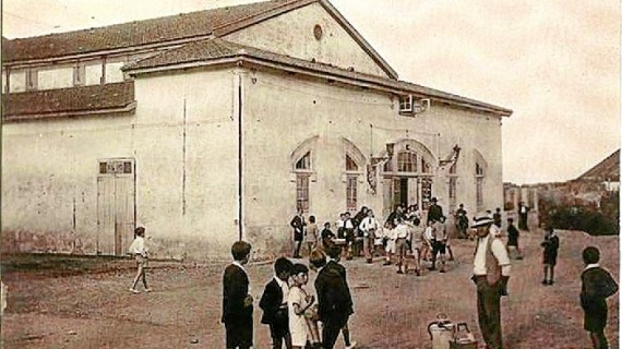 Teatro de Minas de Riotinto en los años 20 del siglo XX