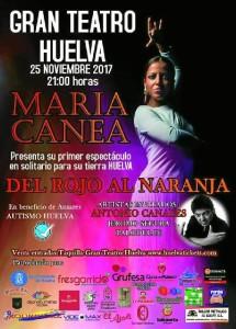 Cartel de la actuación de María Canea en el Gran Teatro de Huelva.