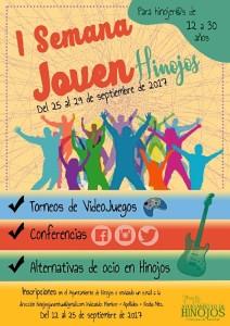 Cartel de la I Semana Joven que se celebra en Hinojos.