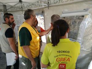 Controlado el incendio forestal en La Granada de Riotinto.