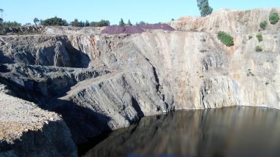 Avance en la eliminación el anhídrido carbónico acumulado en el interior de Corta Guadiana de Minas de Herrerías